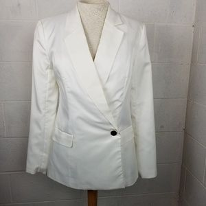 Ark & Co. NWT White one button Blazer